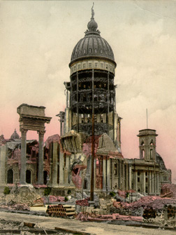 A View of the Ruins of the City Hall after the Earthquake and Fire, San Francisco