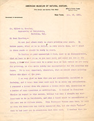 Letter from Franz Boas to A.L. Kroeber