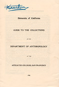 Guide to the Collections of the Department of Anthropology at the Affiliated Colleges, San Francisco