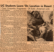 UC Students Learn On Location in the Desert - San Francisco Chronicle