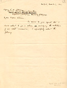 Letter from A. L. Kroeber to F. W. Putnam