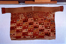 a Poncho, collected by Max Uhle, Supe district, Peru