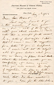 Letter from Frederic Ward Putnam to P.A. Hearst