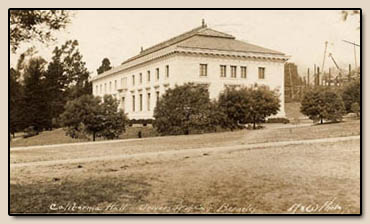 California Hall.  University of Calif. Berkeley.  Photographic postcard, 1909.