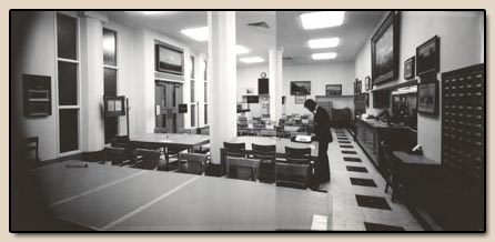 Temporary reading room, 1972-73.  Photograph, 13 February 1973.