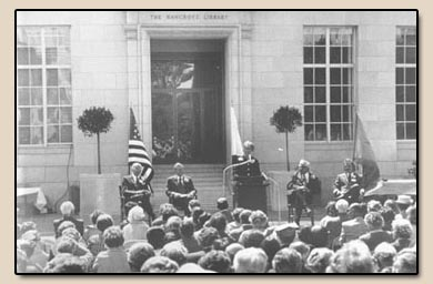 Rededication of The Bancroft Library.  Photograph, 6 May 1973.