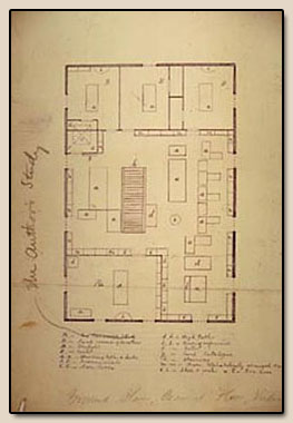 Ground Plan, Second Floor, Valencia Street.  Manuscript, ca. 1880.