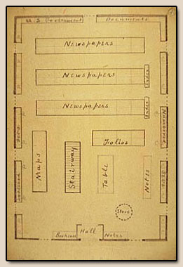 Plan, First Floor, Valencia Street.  Manuscript, ca. 1880.