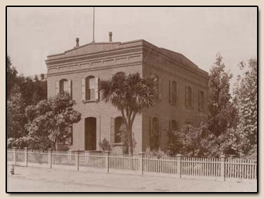 The Bancroft Library at 1538 Valencia Street, San Francisco, circa 1890-1900.