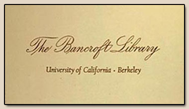 The Bancroft Library bookplates, 1963.