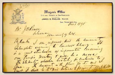 James D. Phelan.  Letter to Joseph C. Rowell. San Francisco, 1 December 1898.