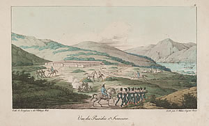 Vue du Presidio Sn. Francisco [engraving], Louis Choris