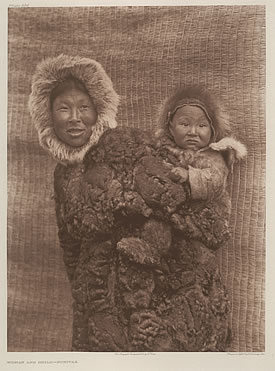 Woman and Child Nunivak, 1928, Volume Twenty, Plate 694