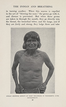 Indian Showing Effect of Deep Breathing in Wonderful Lung Development, George Wharton James