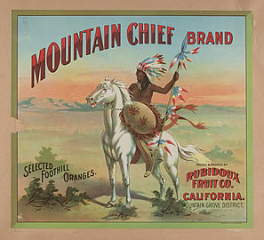 Advertisement, Mountain Chief brand oranges