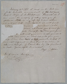 Autograph Letter Signed, Royal Oatman to Brevett Major S.P. Heintzelman, February 15, 1851