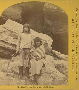 No. 72. Navajo Brave and his Mother