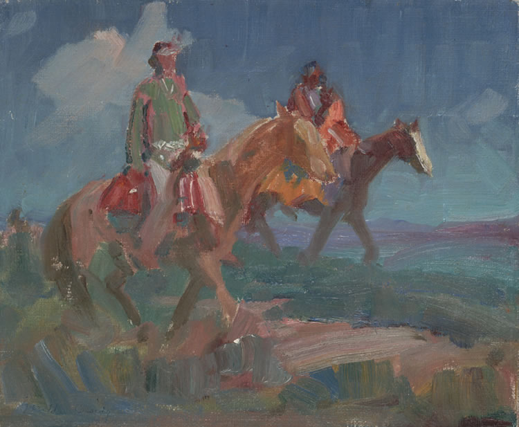 Sketch for 'Navajo's Romance', Gerald Cassidy