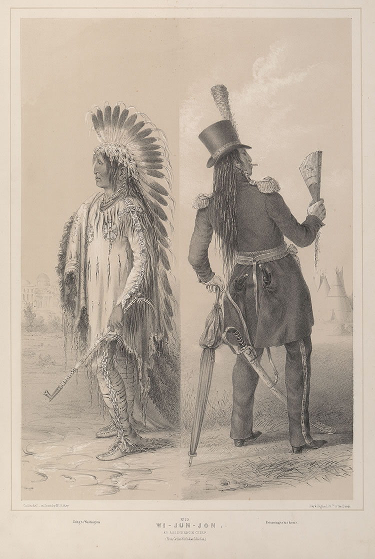 Wi-Jun-Jon, An Assinneboin Chief, George Catlin, 1844