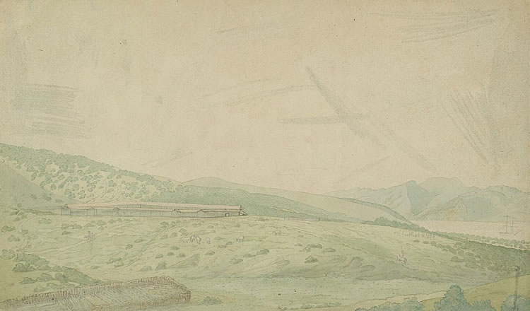 Vue du Presidio Sn. Francisco [original drawing], Louis Choris