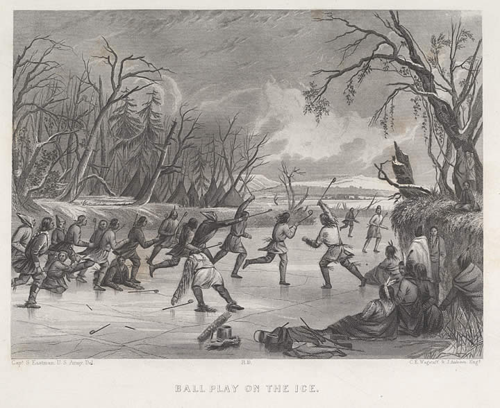 Ball-Play on the Ice, Mary Henderson Eastman, text, Seth Eastman, illustrations