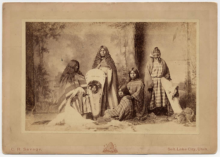 Ute Indians, C.R. Savage, Salt Lake City, Utah