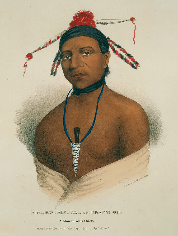 Ma Ko Me Ta, Bear's Oil, A Monomonie Chief