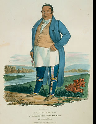 Francis Godfroy, A Celebrated Chief Among the Miamis, half French and half Miguni
