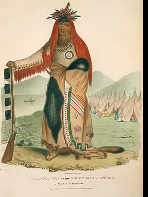 Waa Na Taa, The Foremost In Battle, Chief of the Sioux tribe
