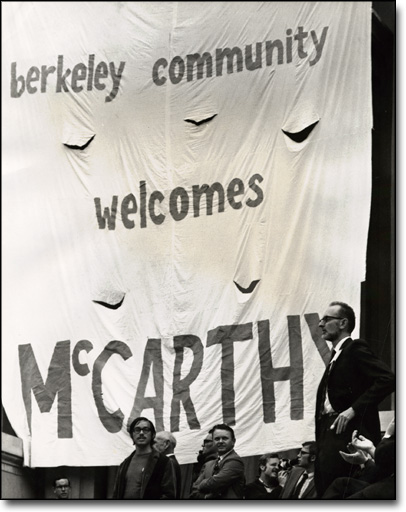 Chamberlain at Rally for Anti-War Presidential Candidate Eugene McCarthy, Berkeley, 1968