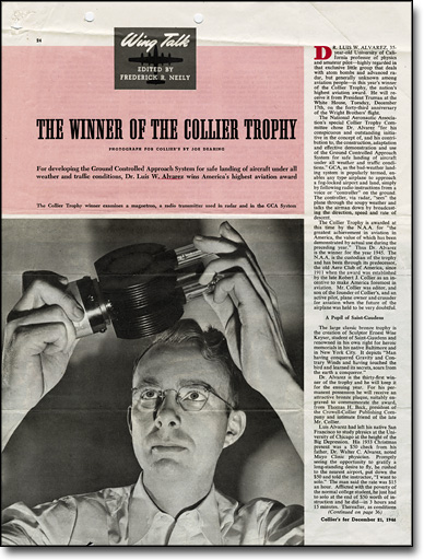 """The Winner of the Collier Trophy,"" Collier's, December 21, 1946"