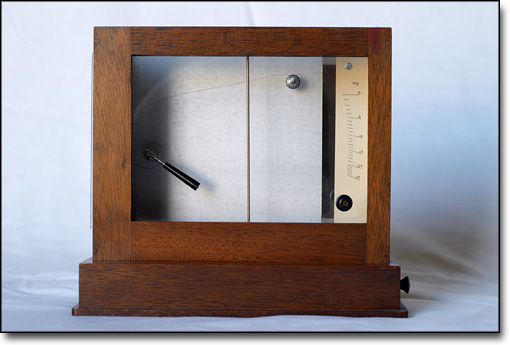Scale Used to Measure Early Radioactive Pellets