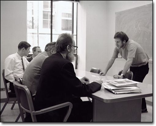 "Owen Chamberlain and Others Listen to Stephen Rock Discuss the ""Time-Reversal Invariance"" for His Ph. D. Qualifying Exam, 1970"