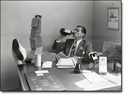 Physics Professor Relaxing in His Office, 1944