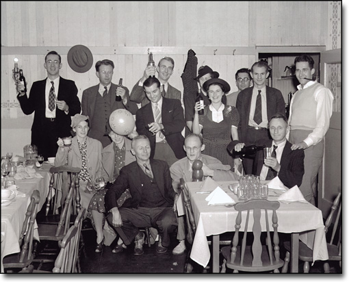 Party at DiBiasi's Restaurant, Albany, [1939?]