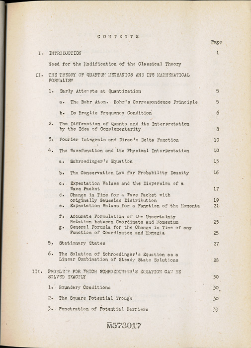 Notes on Quantum Mechanics (Physics 221, Oppenheimer, 1939) By B. Peters