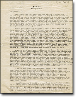 Letter from J. Robert Oppenheimer to His Brother Frank, October 14, 1929