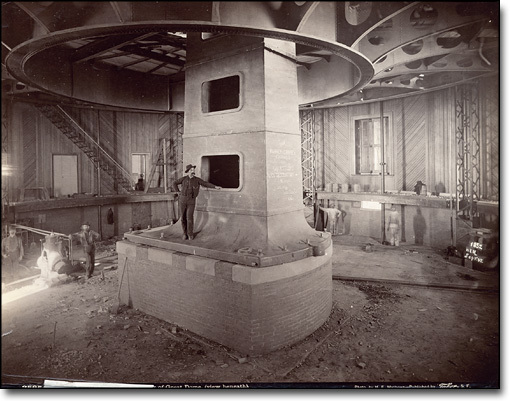 View of Base of Elevating Floor for Main Dome by H. E. Matthews, ca. 1890