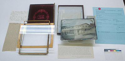 Daguerreotype plate removed from its case