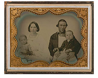 Dr. S. Corbin and family of Forest City, Calif. [ca. 1855-1860], The Bancroft Library